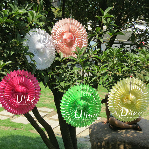 Popular Tissue Paper Fans Ceiling Decoration For Parties White Party Decortion