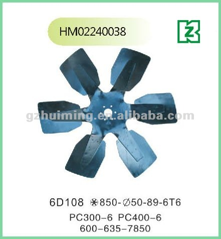 Excavator diesel engine cooling fan pc300-6 pc400-6