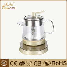 1.0L Home glass SS automatic coffee maker with spray type cooking