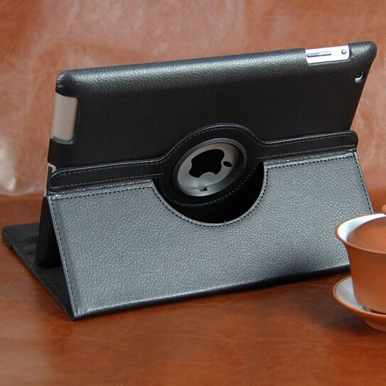 360 multi-angle Stand For IPad Air 2 rotating Leather Case