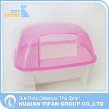 Small mini size plastic pet bathroom sauna room for hamster