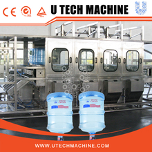 Low cost water filling plant with washing unit for 5 gallon barrel
