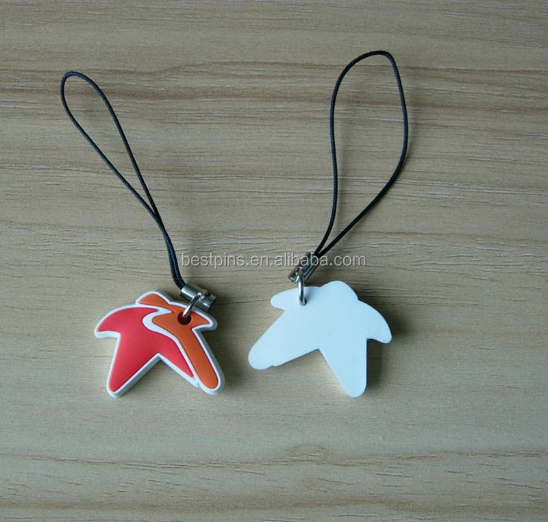 starfish shaped 3D pvc phone charms with plastic rope