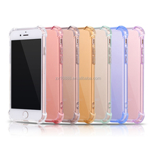 popular phone Case Clear Back Shockproof TPU mobile phone case transparent clear soft phone case cover for iphone 6,7