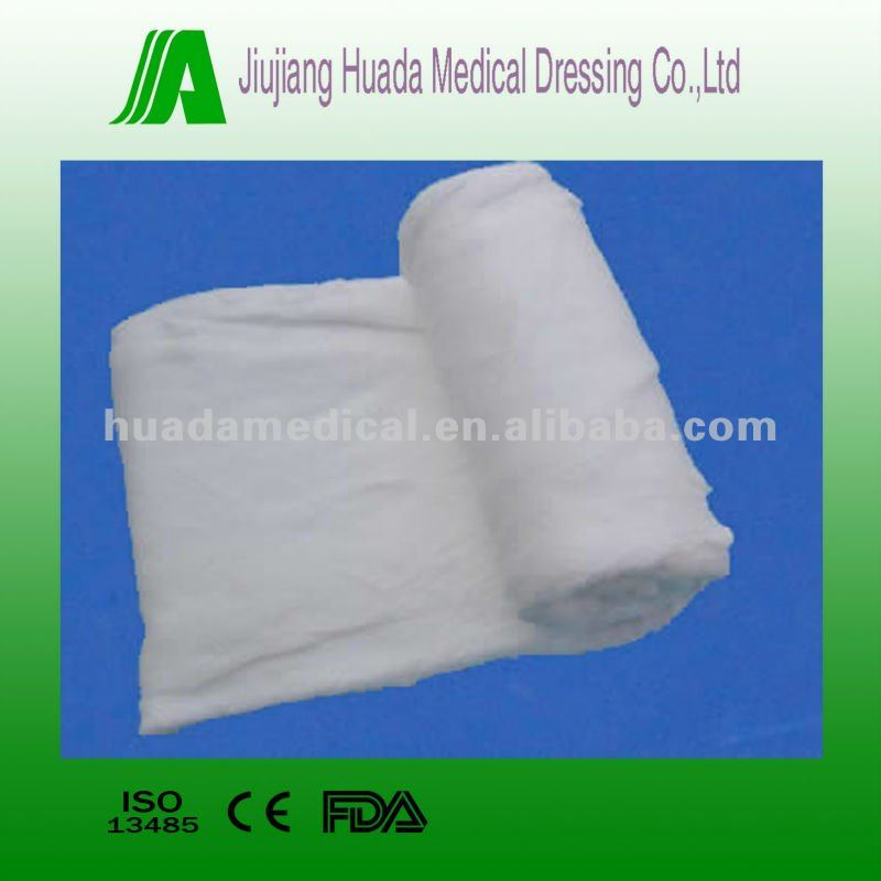 100% cotton medical surgical dressing materials cotton roll