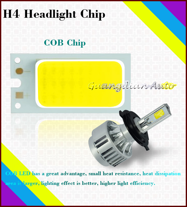 Tcart New Design Top Quality cob 36w 3300lm high power high bright h4 led headlight