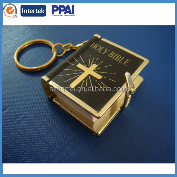 Holy Mini Bible Keychain for promotion, keychain with holy bible