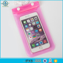 Fashion product IPX8 certificate waterproof clear PVC mobile cell phone sling bag