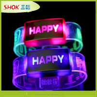 2014 promotion novelty custom glow in the dark bracelet
