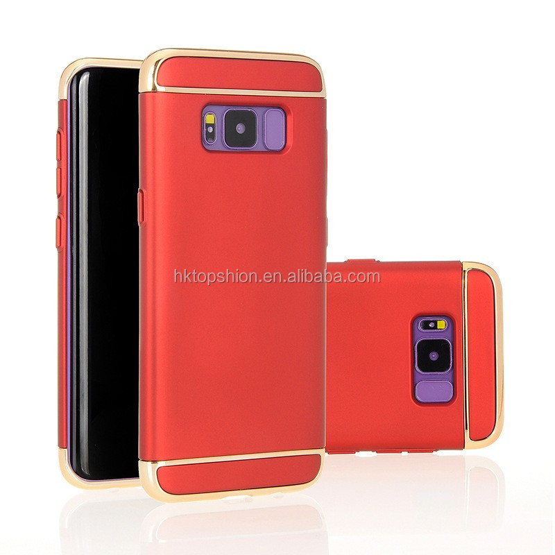 Hot selling for galaxy s8 plus case hard pc 3 in 1 plating case cover, for samsung s8 case