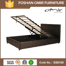 2016 china hot sale bed frame,gas lift up adjustable wooden bed,factory price made in China SS8100
