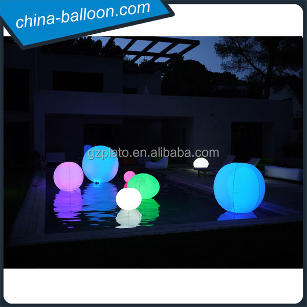 Color changing inflatable floating advertising balloon,led light water floating balloon