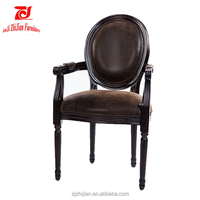 Restaurant Dining Wooden Upholstered Dining Chairs With Arms ZJA2