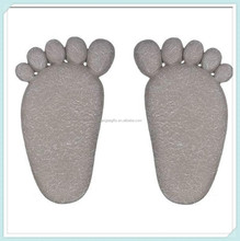 Garden plaques funny foot shape stepping stones