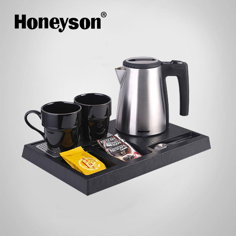 Honeyson 2017 new modern metal small teapot and cup set