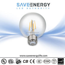 G80 G25 Dimmable Vintage Filament LED BULB, E12/E26 4.5W UL ES Leader Lighting