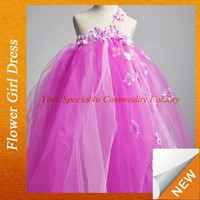 Puffy flower girl purple dress one shoulder ball gown For Girl gown dresses for girls Lyd-990