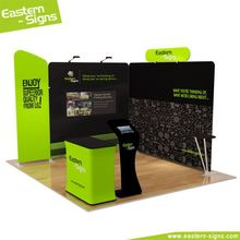 Top quality straight shape anodized aluminum pole 100% polyester full color fair machine washed portable exhibition stall