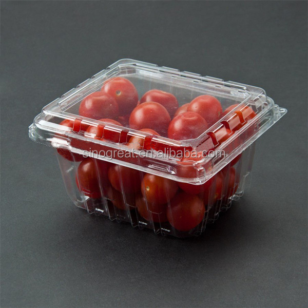 Plastic cherry tomato clamshell packaging fruit use
