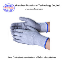 13 Gauge HDPE puncture resistant gloves nylon cut resistant gloves grey puncture resistant gloves