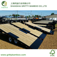 Midium natural solid bamboo extruded truck flooring with oil