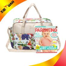 2016 Alibaba china women bag fashion tote adult baby diapers bag
