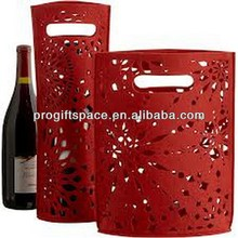 Hot sell Eco friendly high quality felt wine holder with flower pattern for sale made in China