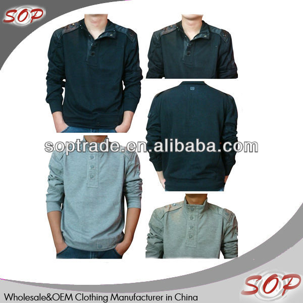Korean fashion men casual long sleeve polo t-shirt clothing manufacturer in china