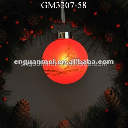 christmas reindeer ornament hanging ball