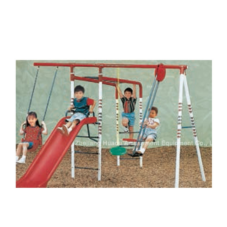 Nature series outdoor playground equipments with swing and slide