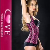 Latex Leopard XXXL Mature Corsets Waist Inner Sexy Slimming Body Shapers