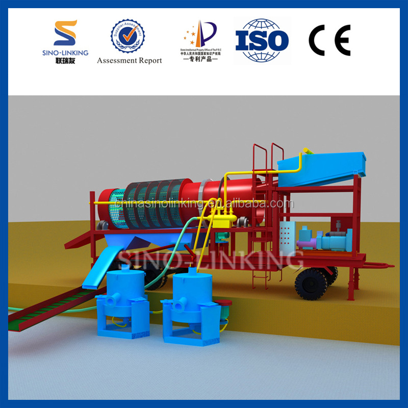 SINOLINKING Mineral Separation Gold Ore Crushing Machine with Concentrator