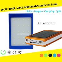 solar power bank 20000mAh 30000mAh 50000mAh 30W SMT LED solar battery bank solar charger with 5 lithium Battery inside