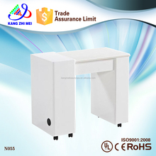 simple modern white nail manicure table N055