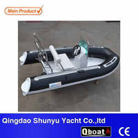CE small fiberglass hull inflatable boat for sale