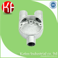 electrical wiring accessories & malleable iron casting pipe fittings in three-way Y way