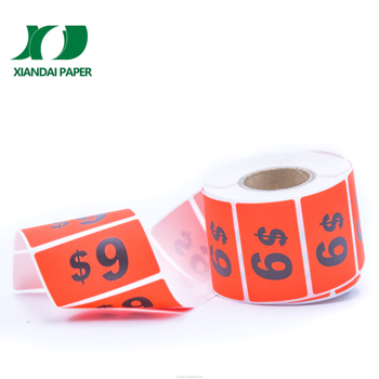 Custom size adhesive sticker paper printing thermal labels