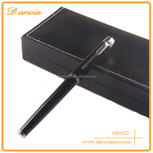 China factory wholesale normal black roller pen with cap,name stamp gift pen set