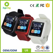 CE, RoHS, FCC android smart watch phone u8,cheap smartphone