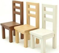 Mini furniture chair, children's wooden toys