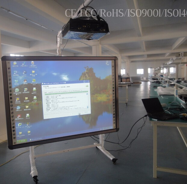 82 inches finger touch interactive electronic whiteboard with projector with ce, iso, fcc, rohs