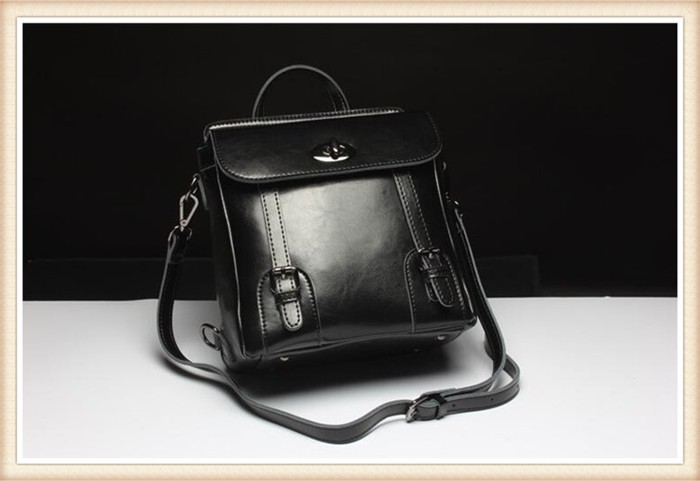 Factory fashion 100% wholesale price backpack bag women genuine leather backpack