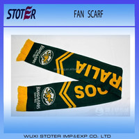 custom logo football scarf , soccer scarf