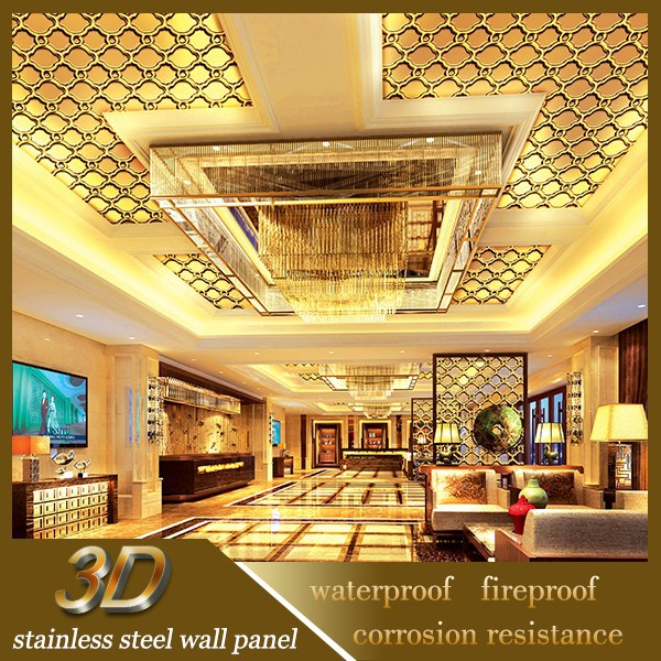 New 2015 Inox Steel Wall Papers False Ceiling Pattern