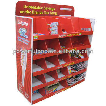 Supply supermarket promotion toothpast advertising cardboard corrugated pallet displays