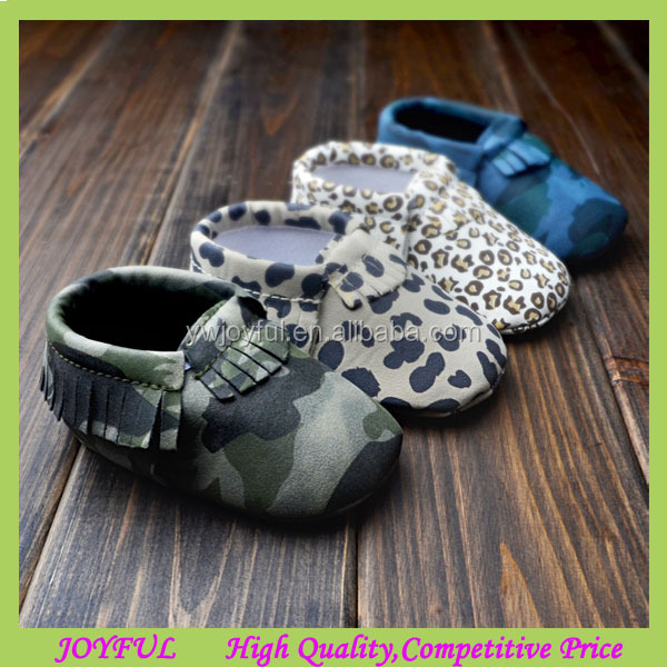 New printing Genuine Leather Baby Moccasins Soft bottom Baby Shoes First Walker Chaussure newborn shoes