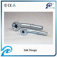 90 DEGREE SAE FLANGE 3000PSI Hydraulic Hose Connections (87391)