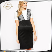 Wholesale Clothing Fashion Black Lace Maternity Dress for Office