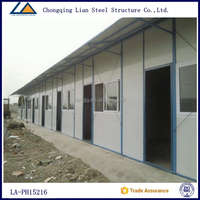 2015 The latest steel structure garden shed prefab house plans design