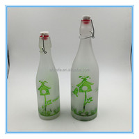 Wholesale table centerpiece,glass wine bottle candle holder manufacture,home goods